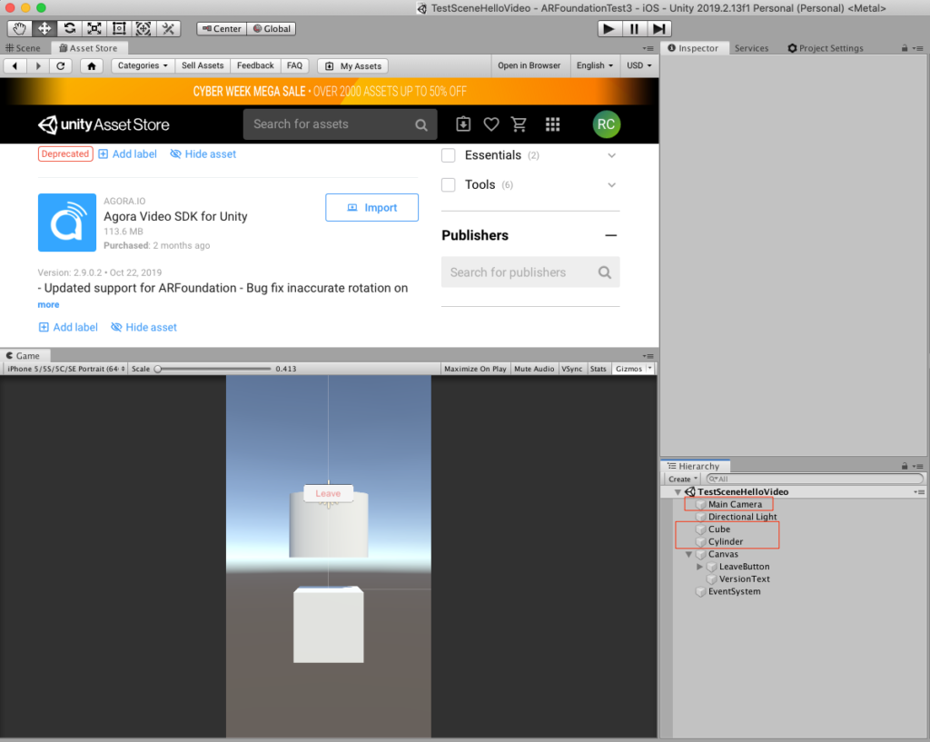 Video Chat with Unity3D and AR Foundation — Part 3: Remote Assistant App - Screenshot #2