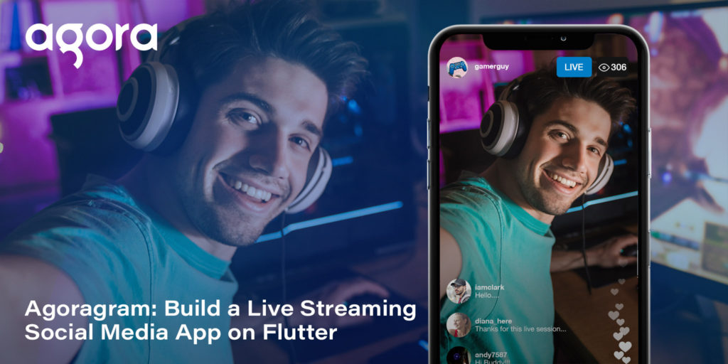 Build a Live Streaming Social Media App on Flutter Featured