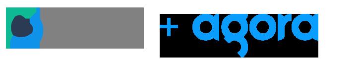 Loop Team logo and Agora logo