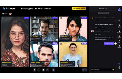 Airmeet user interface