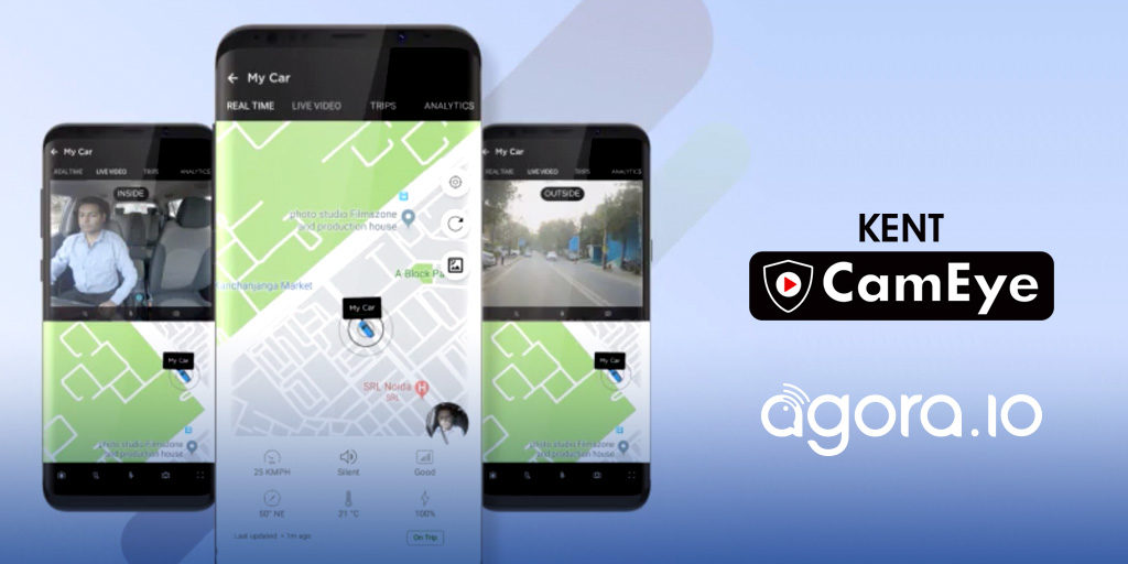 Agora.io Partners with KENT CamEye to Power Live Streaming Car Security in India Featured