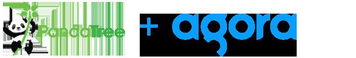 PandaTree logo and Agora logo
