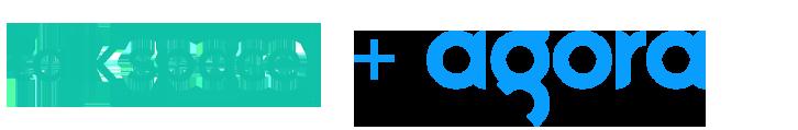 Talkspace logo and Agora logo