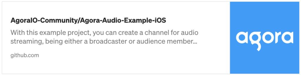How to Build a Live Audio Streaming iOS App with Agora - Screenshot #1