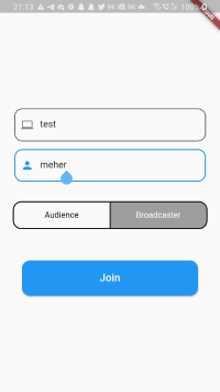 Building Your Own Audio Streaming Application Using the Agora Flutter SDK - Screenshot #2