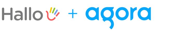 Hallo + Agora logos