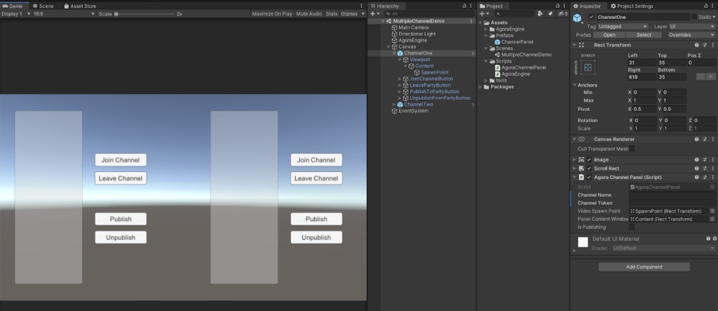 Joining a Multiple Agora Channels in Unity - Screenshot #6