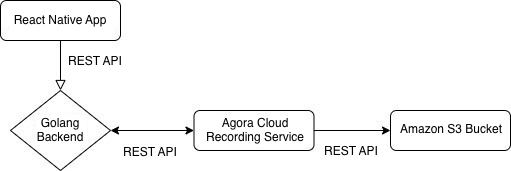 Cloud Recording for React Native Video Chat Using Agora screenshot 1