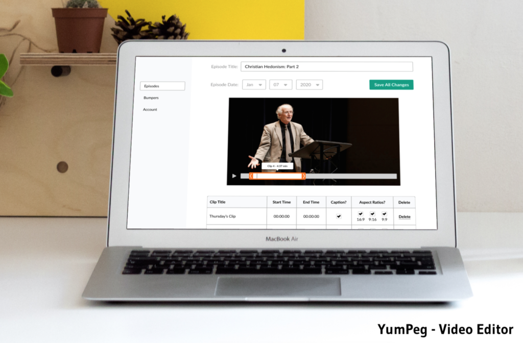 Yumpeg video clip editor is for podcasters or anyone who wants to extract short video clips from longer videos.