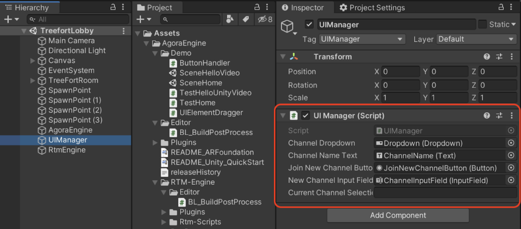 Agora Treefort: Using RTM to Join Breakout Rooms in Unity - Screenshot #6