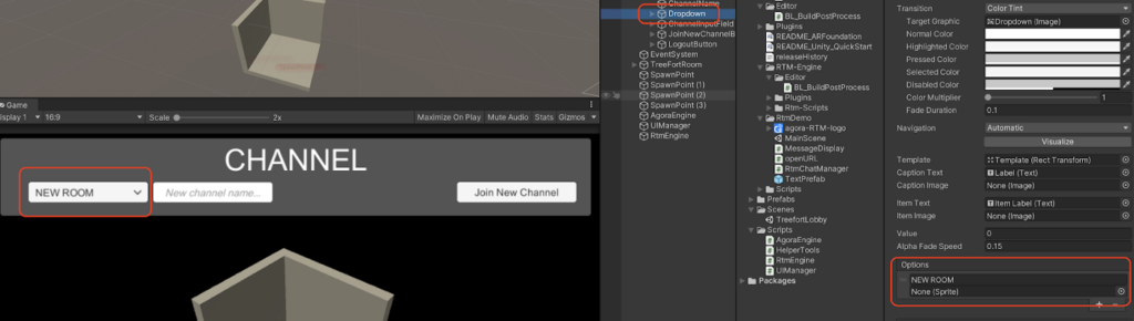Agora Treefort: Using RTM to Join Breakout Rooms in Unity - Screenshot #8