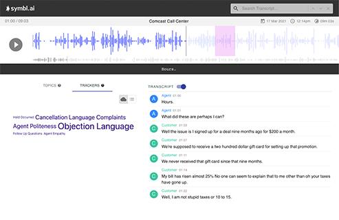 Realtime Audio conversational transcription to text.