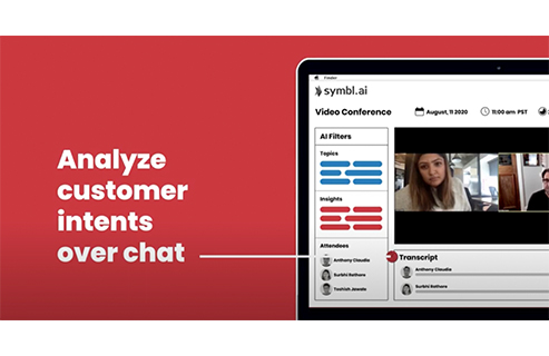 Analyze customer intents over chat with Symbl.ai's contextual insights.
