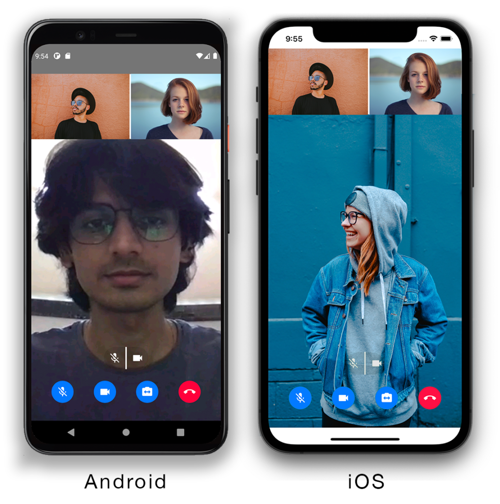 Creating a React Native Video Chat App in a few lines of Code using Agora UIKit screenshot 1