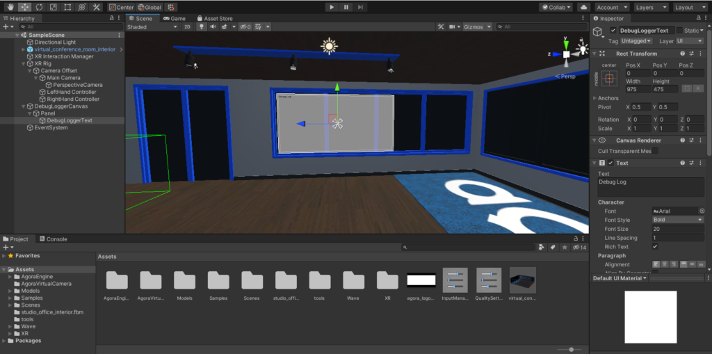 How to Build a VR Video Chat App Using Unity's XR Framework screenshot 20