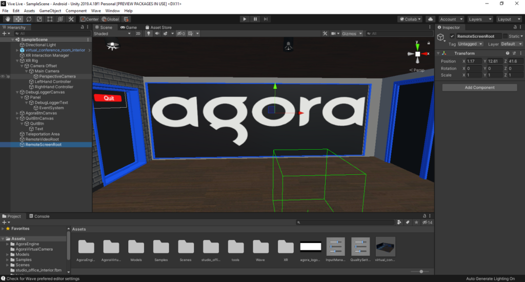 How to Build a VR Video Chat App Using Unity's XR Framework screenshot 25