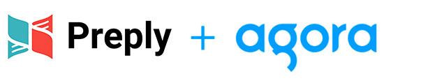 Agora + Preply logos