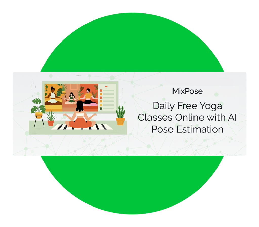 """MixPose yoga illustration with text """"To a Better Yoga Experience"""""""