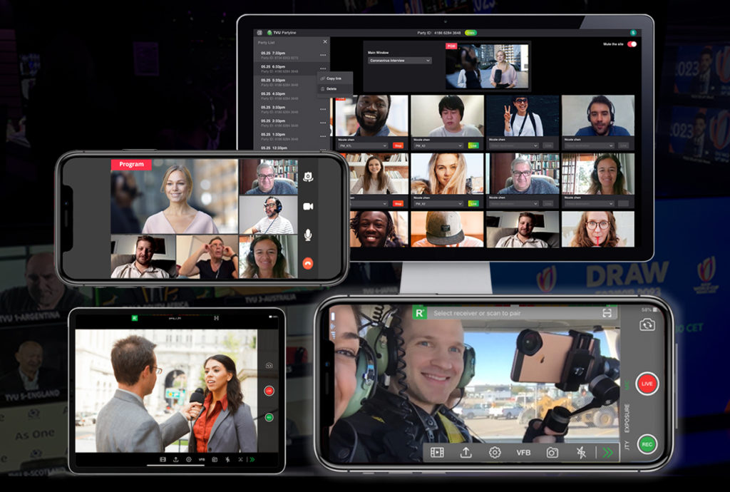 Video communication between remote production crews on a variety of devices.