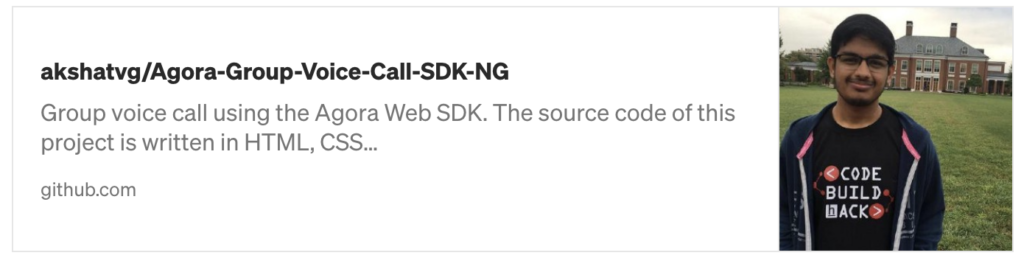 Building Your Own Group Voice Calling Application Using the Agora Web SDK - Screenshot #4