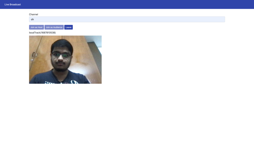 Build Your Own Many To Many, Live Video Streaming Using the Agora Web SDK - Screenshot #1