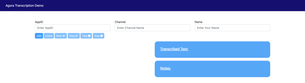 Building Your Own Transcription Service Within a Video Call Web App - Screenshot #3