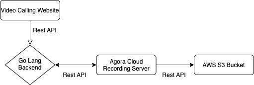 Using Agora Cloud Recording for a Video Chat Web App - Screenshot #1