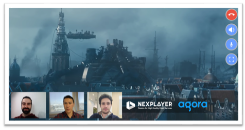 How to Create a NexPlayer and Agora Video Streaming Android App - screenshot #1
