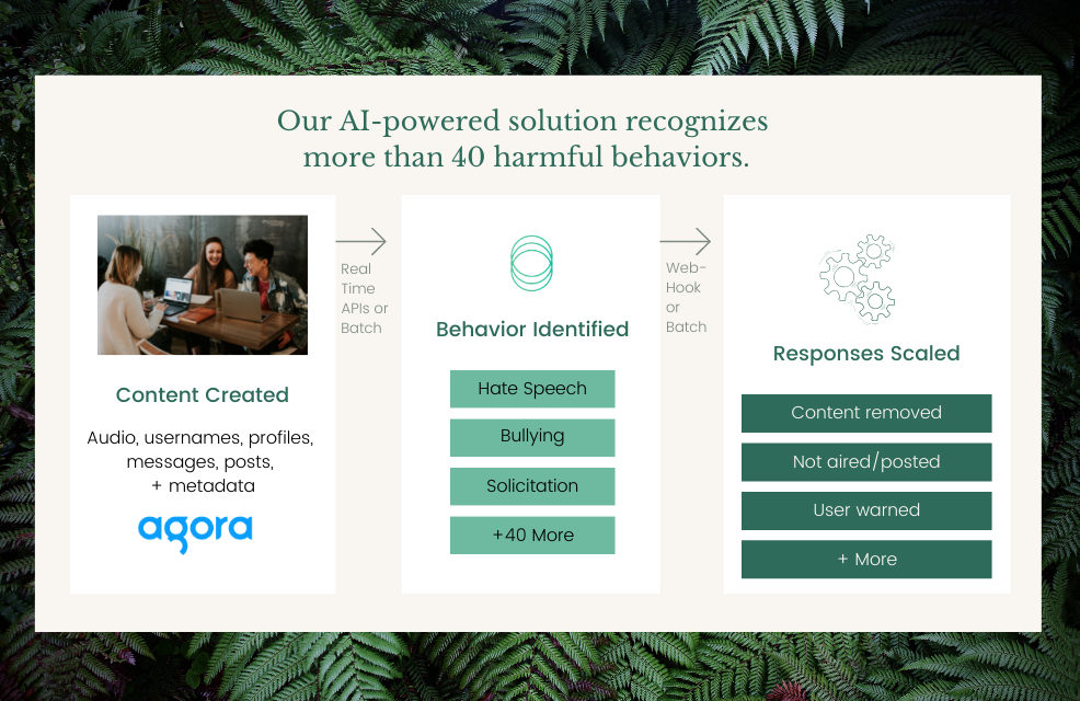 Spectrum Labs AI-powered solution recognizes more than 40 harmful behaviors.