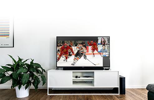 Sports-multi5 image: Synervoz virtual watch party.