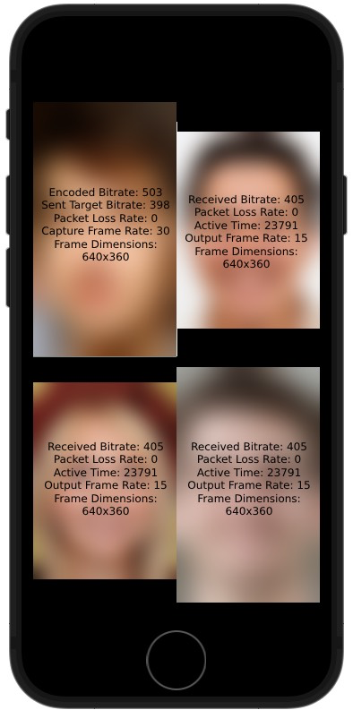 Building an iOS Video Chat App with In-Call Statistics screenshot 2