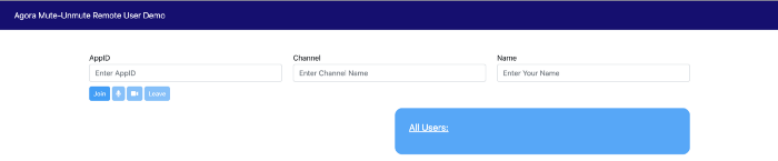 Muting And Unmuting A Remote User In A Video Call Web screenshot 3