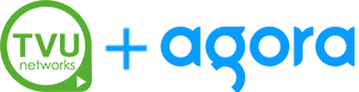 TVU Networks and Agora logos