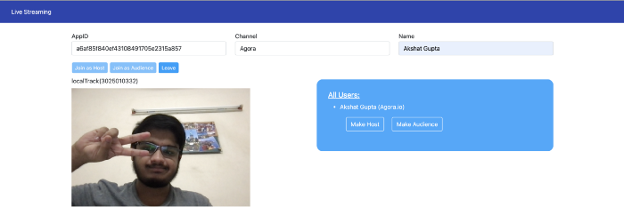 Changing the Role of a Remote Host in a Live Streaming Web App screenshot 1