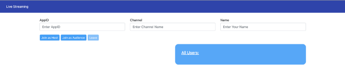 Changing the Role of a Remote Host in a Live Streaming Web App screenshot 3