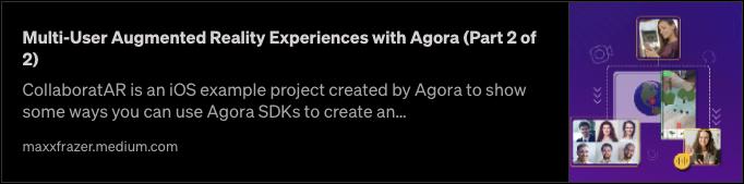 Multi-User Collaborative iOS AR Experiences with Agora (Part 1 of 2) screenshot 3