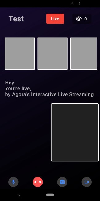 Switching the Live Streaming Client Role Using the Agora RTM SDK on Flutter screenshot 3