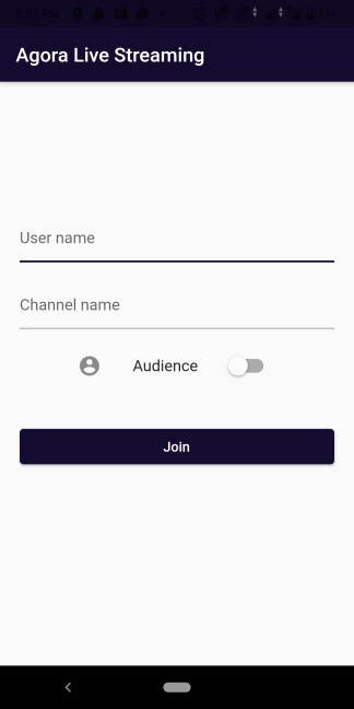 Switching the Live Streaming Client Role Using the Agora RTM SDK on Flutter screenshot 2