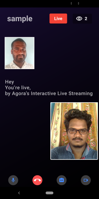 Switching the Live Streaming Client Role Using the Agora RTM SDK on Flutter screenshot 6