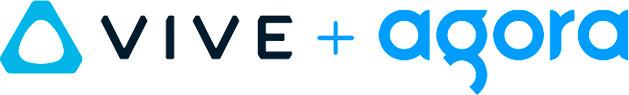 HTC VIVE and Agora logos
