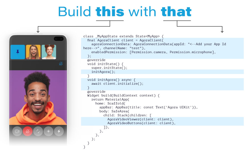 Build this with that - Flutter