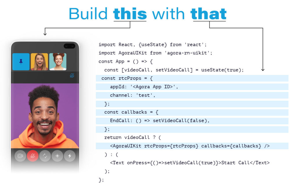 Build this with that - React