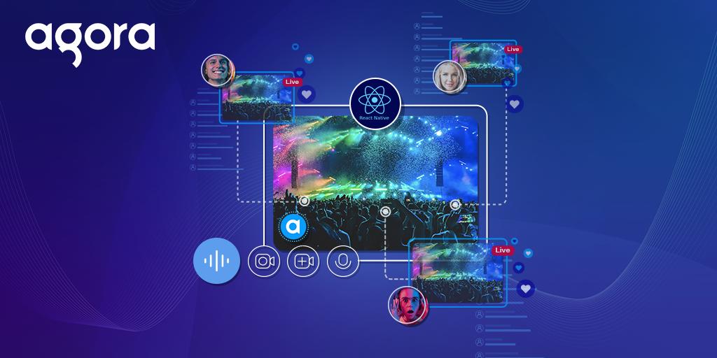 Building a React Native Live Video Broadcasting App using Agora