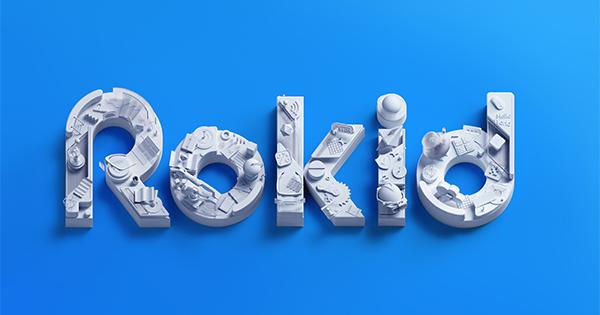 Rokid logo with blue background